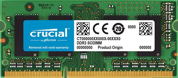 Balix I Crucial 4GB DDR3L-1600 SODIMM PC3-12800 CL11